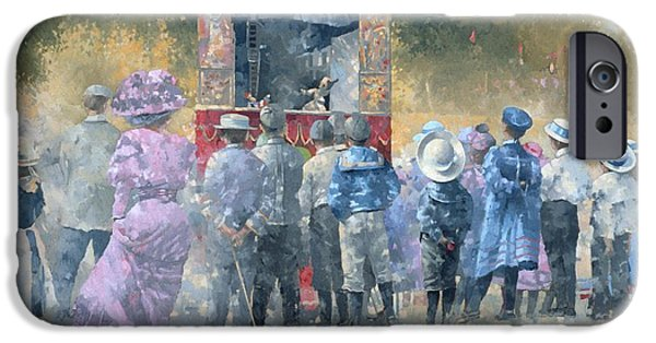 Puppets iPhone Cases - Sunday In The Park Oil On Canvas iPhone Case by Peter Miller