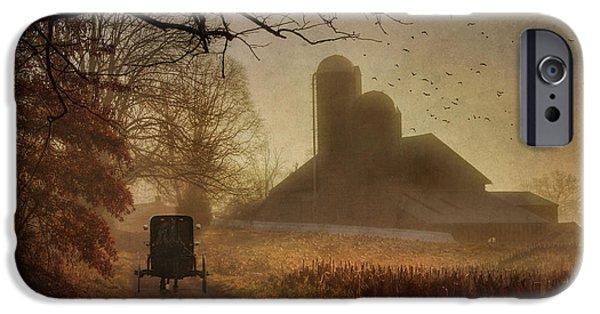 Amish iPhone Cases - Sunday Morning iPhone Case by Lori Deiter