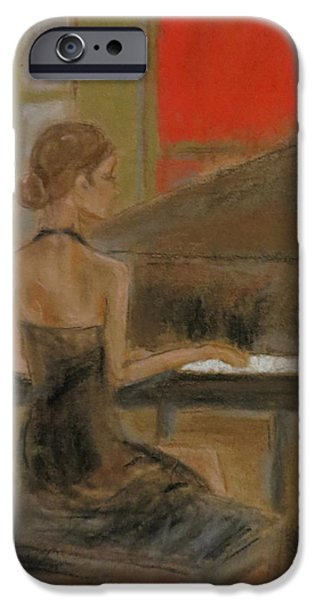 Piano Pastels iPhone Cases - Sunday recital iPhone Case by C Pichura