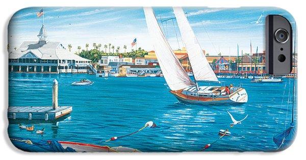Balboa iPhone Cases - Sunday Sail iPhone Case by Steve Simon