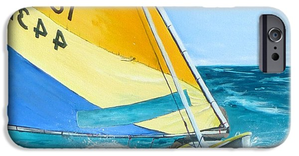 Recently Sold -  - Sailing iPhone Cases - Sunfish iPhone Case by Kevin Lancaster