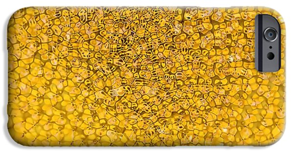 Abstract Sunflower iPhone Cases - Sunflower Abstract iPhone Case by Dan Sproul