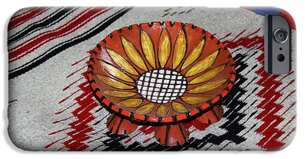 Floral Ceramics iPhone Cases - Sunflower Bowl  iPhone Case by Tom Janca