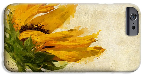 Windy iPhone Cases - Sunflower Breezes iPhone Case by Nikki Marie Smith