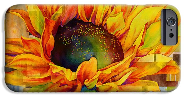 Macro Paintings iPhone Cases - Sunflower Canopy iPhone Case by Hailey E Herrera