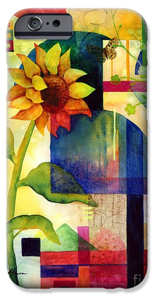 Recently Sold -  - Nature Abstract iPhone Cases - Sunflower Collage iPhone Case by Hailey E Herrera