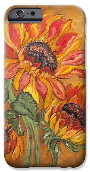 Religious Drawings iPhone Cases - Sunflower Enchantment iPhone Case by Ella Kaye Dickey