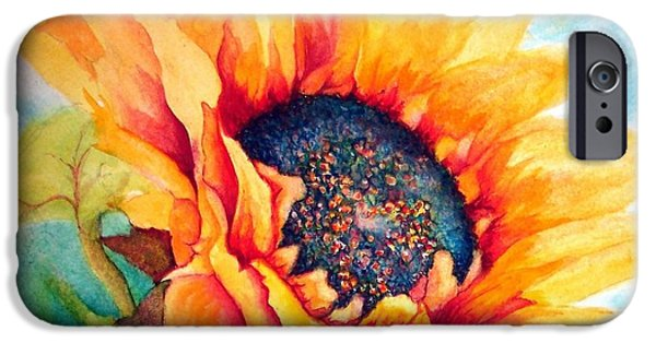 Fauna iPhone Cases - Sunflower Joy iPhone Case by Janine Riley