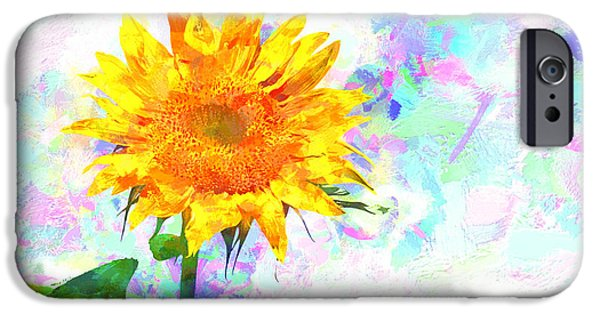 Collectibles Mixed Media iPhone Cases - Sunflower Magic iPhone Case by Bob Orsillo