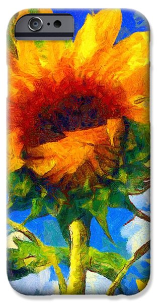 Girasol iPhone Cases - Sunflower - Oh Ive said too much iPhone Case by Janine Riley