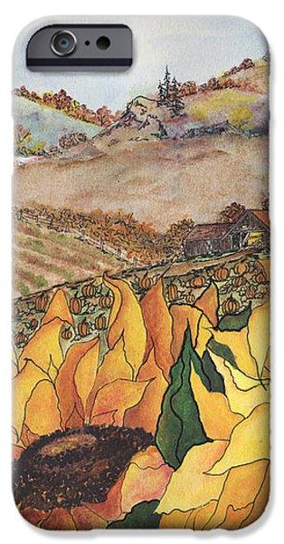 Sunflower Serenity iPhone Case by Meldra Driscoll