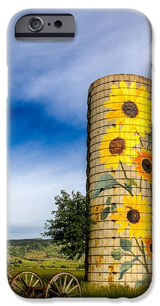 Recently Sold -  - Old Barns iPhone Cases - Sunflower Silo iPhone Case by Teri Virbickis