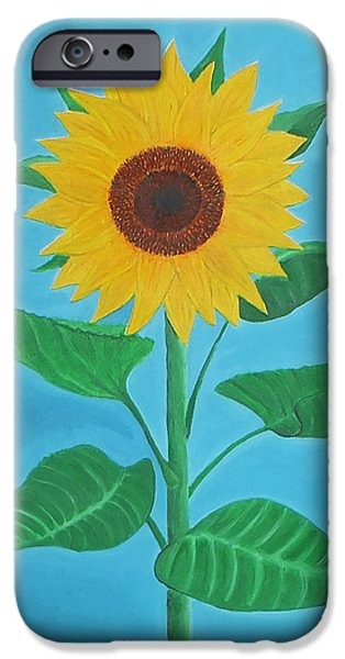 Sunflower iPhone Case by Sven Fischer