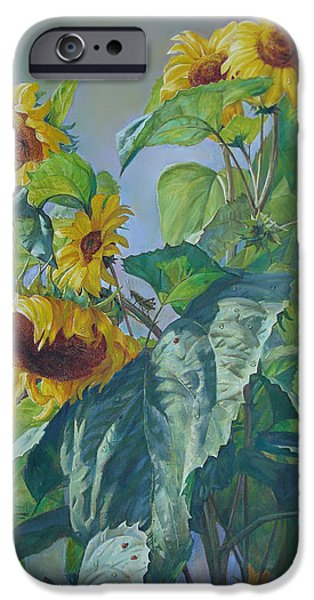Sunflowers After the Rain iPhone Case by Svitozar Nenyuk