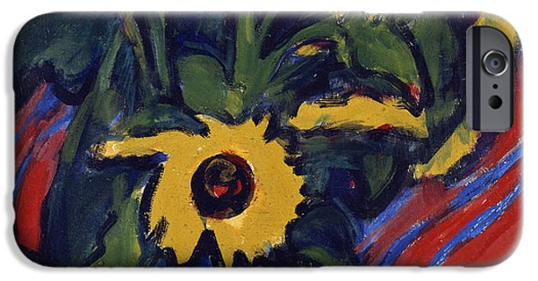Flower Of Life iPhone Cases - Sunflowers iPhone Case by Ernst Ludwig Kirchner