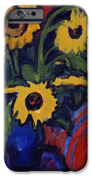 Sunflowers iPhone Case by Ernst Ludwig Kirchner