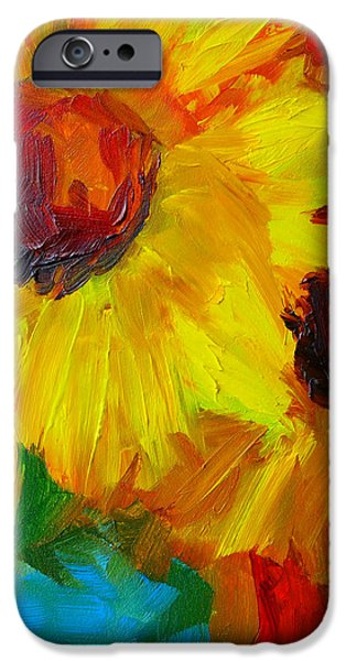 Sunflowers Girasoles Still Life iPhone Case by Patricia Awapara