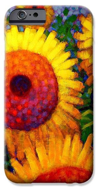 Flower Art Prints iPhone Cases - Sunflowers iPhone Case by John  Nolan