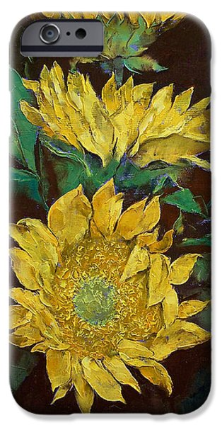 Girasol iPhone Cases - Sunflowers iPhone Case by Michael Creese