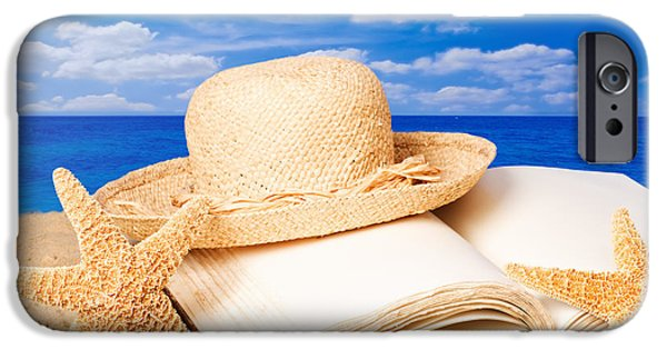 Straw iPhone Cases - Sunhat In Sand iPhone Case by Amanda And Christopher Elwell