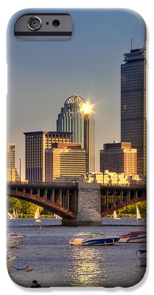 Charles River iPhone Cases - Sunkissed Prudential - Boston iPhone Case by Joann Vitali
