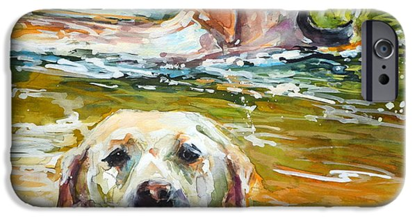Water Retrieve iPhone Cases - Sunkist iPhone Case by Molly Poole