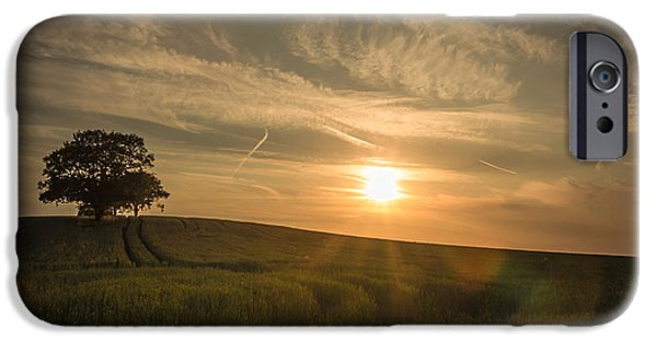 Crops iPhone Cases - Sunlight across the crops iPhone Case by Chris Fletcher