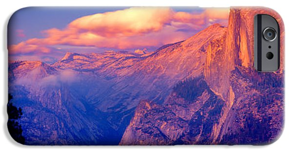 Mountain iPhone Cases - Sunlight Falling On A Mountain, Half iPhone Case by Panoramic Images