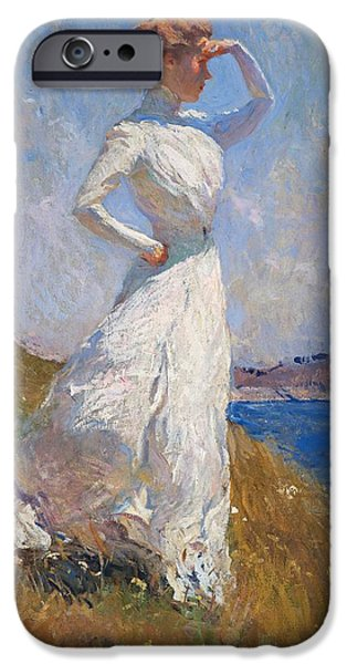 Penobscot Bay Paintings iPhone Cases - Sunlight Frank Weston Benson 1909 iPhone Case by Movie Poster Prints