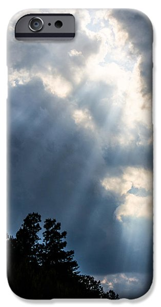 Rare Moments iPhone Cases - Sunlight From The Heavens iPhone Case by Parker Cunningham