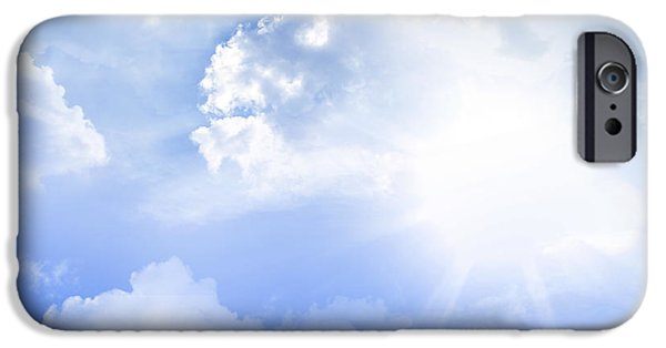 Cloudscape Photographs iPhone Cases - Sunlight iPhone Case by Les Cunliffe