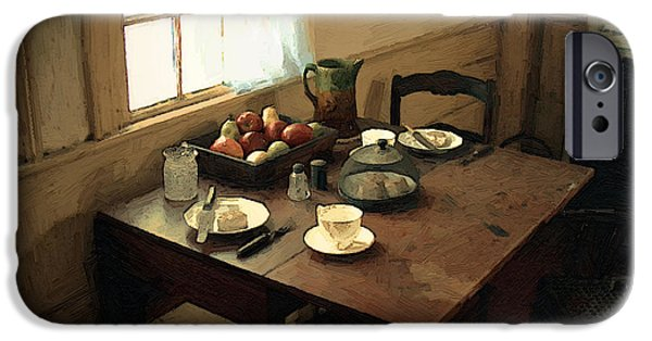 Furniture iPhone Cases - Sunlight on Dining Table iPhone Case by RC DeWinter