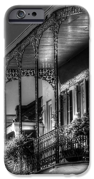 Chrystal iPhone Cases - Sunlight On New Orleans Balcony iPhone Case by Greg and Chrystal Mimbs