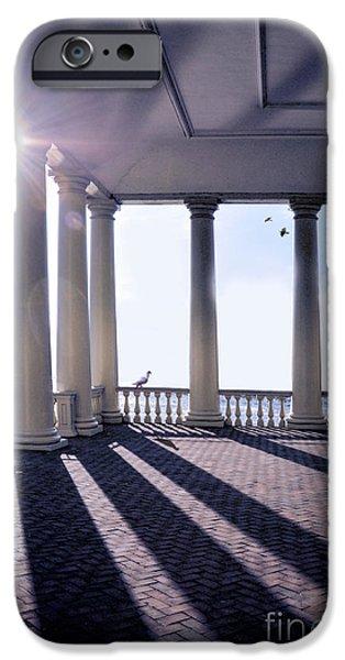 Sun Porch iPhone Cases - Sunlight Through Columns iPhone Case by Jill Battaglia