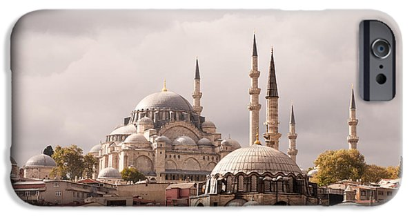 Istanbul iPhone Cases - Sunlit Domes iPhone Case by Rick Piper Photography