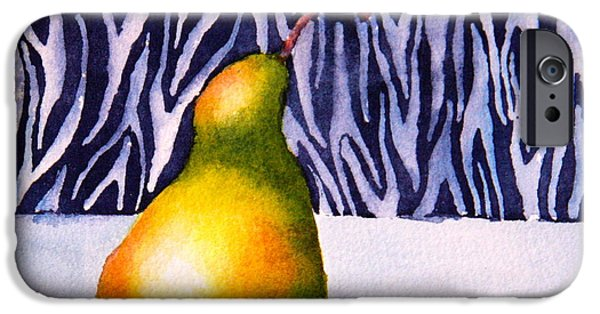 Pears iPhone Cases - Sunlit Pear iPhone Case by Eva Nichols