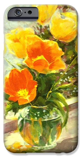 Sunlit Tulips iPhone Case by Madeleine Holzberg