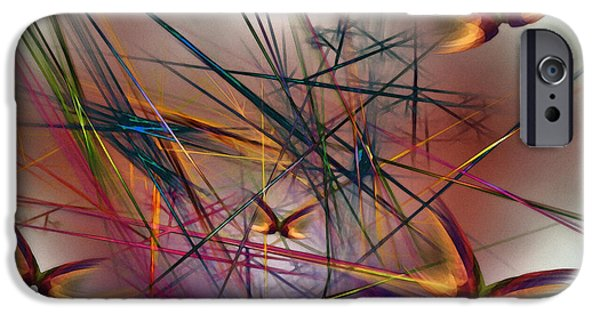 Abstract Expressionism Digital iPhone Cases - Sunny Day-Abstract Art iPhone Case by Karin Kuhlmann