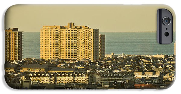 Buildings Mixed Media iPhone Cases - Sunny Day In Atlantic City iPhone Case by Trish Tritz