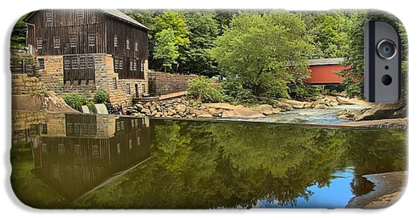 Grist Mill iPhone Cases - Sunny Days At McConnells Mill iPhone Case by Adam Jewell