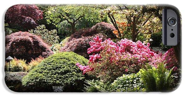 Garden iPhone Cases - Sunny Japanese Garden iPhone Case by Carol Groenen