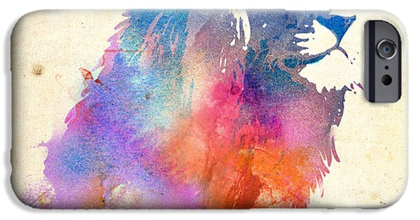 Lions Mixed Media iPhone Cases - Sunny Leo iPhone Case by Robert Farkas