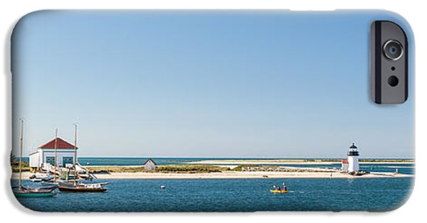 New England Lighthouse iPhone Cases - Sunny Nantucket Afternoon iPhone Case by Michelle Wiarda