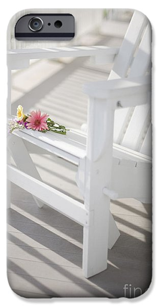 White House Photographs iPhone Cases - Sunny Porch iPhone Case by Diane Diederich