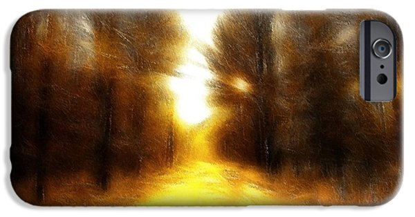 Expressionism Pastels iPhone Cases - Sunny Road iPhone Case by Stefan Kuhn