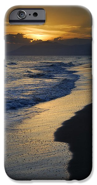 Seacapes iPhone Cases - Sunrays over the sea iPhone Case by Guido Montanes Castillo