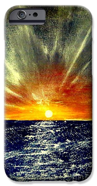 Sun Rays Paintings iPhone Cases - Sunrays iPhone Case by Tim Townsend