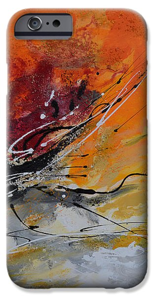 Sunrise - Abstract 1 iPhone Case by Ismeta Gruenwald