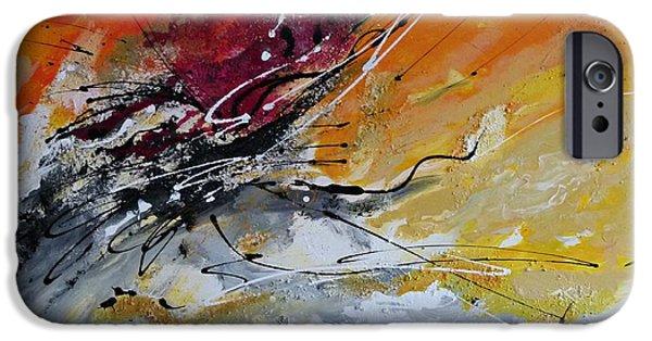 Ismeta iPhone Cases - Sunrise - Abstract art iPhone Case by Ismeta Gruenwald