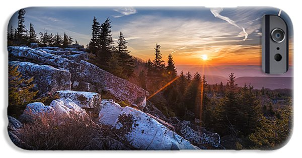 Sod iPhone Cases - Sunrise at Bear Rocks iPhone Case by Eduard Moldoveanu